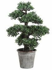 "24"" ARTIFICIAL BONSAI TREE PLANT TOPIARY ARRANGEMENT IN OUTDOOR GARDEN PATIO DEN"