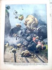 423) 1931 INCIDENTE A TRENO IN SVIZZERA CANTONE DEI GRIGIONI DOMEN. DEL CORRIERE