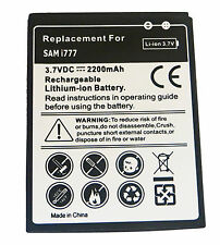 NEW 2200MAH LI-ION RECHARGEABLE BATTERY FOR SAMSUNG GALAXY S2 II I777 ATTAIN