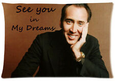 Custom Nicolas Cage Dreams with You Pillowcase Standard Size 20x30 Pillow Case