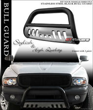 1997-2004 DAKOTA/1998+ DURANGO MATTE BLACK BULL BAR BUMPER GRILLE GUARD+S/S SKID