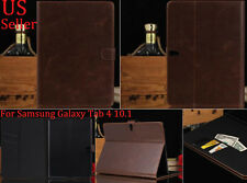 Luxury Folio Leather Stand Case Cover For Samsung Galaxy Tab 4 10.1'' SM-T530