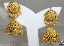 GOLD Golden Indian Bollywood Women Jhumka Earring Traditional Ethnic Jewelry G8+