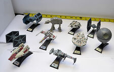 10 Star Wars Die-Cast Mini Vehicles: Four X-Wing  Imperial AT-AT Falcon B-Wing +