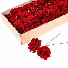 Paquete De 6 artificial con Cable Rojo Terciopelo Rosa