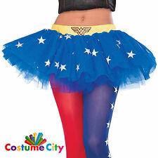 Womens Ladies Official Wonder Woman Tutu Skirt Fancy Dress Costume Accessory