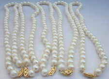 Hot New 7-8mm 5PCS Akoya AA white  Cultivation  pearl necklace 18''