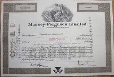 1981 Stock Certificate: 'Massey-Ferguson, Limited' - Canada - Brown