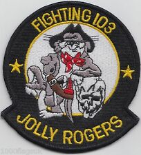 US Navy VF-103 Fighter Squadron 103 Jolly Rogers Tomcat Embroidered Patch Badge
