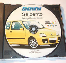 DVD MANUALE OFFICINA - TECHNICAL SERVICE MANUAL -WORKSHOP FIAT SEICENTO 600 (EN)