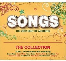 Songs: Very Best Of Acoustic (2015, CD NIEUW)2 DISC SET