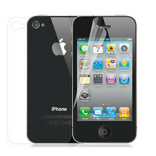 2pcs= 1x (Front Back) Full Screen Protector Cover Film for Apple iPhone 4 4G 4S