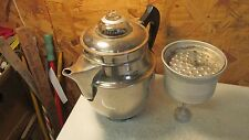 Antique Royal Rochester Nickel Plated Copper Pedestal Stove Top Coffee