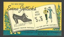 C 1939 P C DOVER NH ENNA JETTICKS SHOES AT LOTHROPS FOR SPRING $5-$6