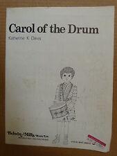 song sheet CAROL OF THE DRUM Katherine K Davis 1959