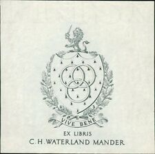 'C. H. Waterland Mander'   Bookplate (JC.168)