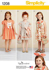 Simplicity Pattern 1208 CHILD'S DRESSES, PURSES AND HEADBAND girl clothes