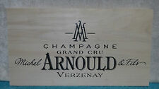 MICHAEL ARNOULD AND FILS CHAMPAGNE GRAND CRU VERZENAY WOOD WINE PANEL END