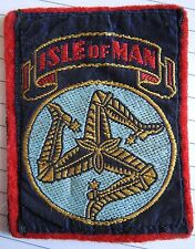 Vintage Isle of Man cloth badge patch 1960/70s