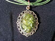 August Birth Stone HUGE PERIDOT Necklace natural gemstones handmade  Victorian