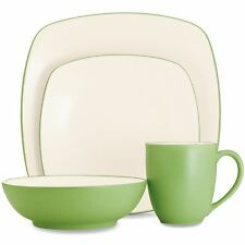 Noritake Colorwave Apple Square 48Pc Dinnerware Set, Service for 12