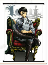 Japan Anime Attack on Titan Levi Home Decor Poster Wall Scroll 20x30CM