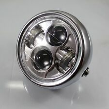 chrome Motorcycle Projector Daymaker LED  Head Light Lamp For kawasaki yamaha