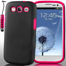 DUAL LAYER DEFENDER HARD SILICON CASE COVER FOR SAMSUNG GALAXY PHONES