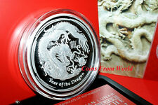 Australia 2012 Silver Proof 1kg Lunar Dragon Coin. Only 500 pcs. Uncirculated