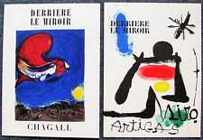 TWO LITHOGRAPHS - ONE BY MIRO & THE OTHER BY CHAGALL - FREE SHIP IN THE US !!!