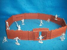 Marx reissue Wilderness Stockade w/ Fronier family Toy Soldiers (54MM)