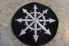 Chaos symbol patch embroidered Punk Metal Skate GBH DRI Bolt Thrower Warhammer