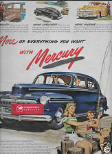 MERCURY FORD MOTOR COMPANY A MERCURY FOR CAREFREE VACATION DAYS 1946 AD