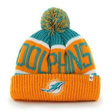 Miami Dolphins 47 Brand Knit Hat Breakaway Cuff Beanie Pom ...