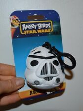 "Angry Birds Star Wars Backpack Clip Storm Trooper 3"" Plush Clip Keychain"