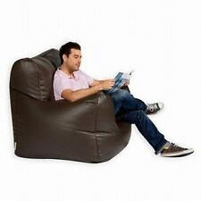XXL Large Adult Gaming Bean Bag Chair Armchair Brown Faux Leather
