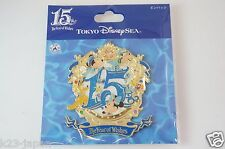 Now On Sale Tokyo Disney SEA 15th Anniversary Large Pin H 8.2cm(3.2 inch) TDR