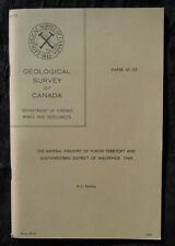 Geological Survey of Canada Paper 69-55, The Mineral Industry of Yukon Territory