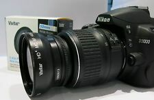 Wide Angle Macro Lens for Nikon Af-s Dx Nikkor 18-55mm f/3.5-5.6G Vr D5300 D3200