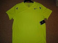 NWT Nike Rafa Nadal Power Court Tennis Crew Shirt Federer 480128-702 New Large
