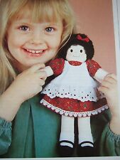 Vintage SEWING PATTERN Jean Greenhowe WELL DRESSED DOLL Rag Doll  TOY + Clothes