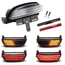 Tri-Bar Fender LED Tail Brake Light Mounting Bracket For Harley FXST FXSTB FXSTC