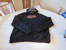 Men's Fox Racing hoodie zip up jacket coat medium M black gray orange head logo