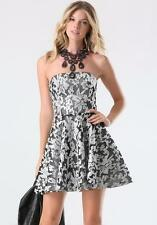 BEBE FLORAL SEQUIN EMBROIDERED MESH STRAPLESS DRESS NEW NWT $199 MEDIUM M 8