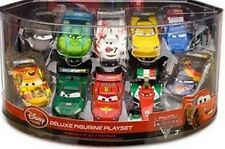 Disney Store Cars 2 Deluxe 10 Car PVC Figure Play Set Cake Topper Bath Toy Pixar