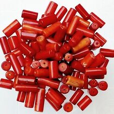 50.00 CARAT WHOLESALE LOT OF NATURAL RED CORAL GEMSTONE { DRILLED }