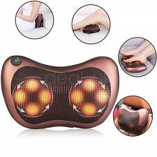 Shiatsu Heat Massage Pillow Deep Kneading Massager Neck Shoulder Back Pain Relax