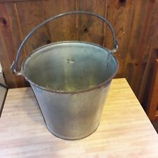 Large Vintage Primitive Looking Metal Bucket/Pail From Old-Time Farm Auction #1
