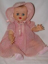 "17"" Vintage Vinyl Molded Hair Baby Doll No Markings"