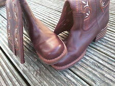 NEW Original STRONG SOFT REAL Leather handmade Western Boots size 40/ 6 1/2